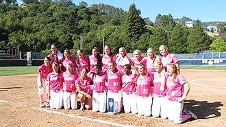 2012 California Golden Bears softball team - California celebrates winning the inaugural Pac-12 Conference championship.