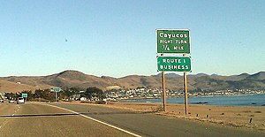 Cayucos, California - Cayucos as seen from Highway 1