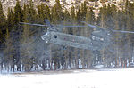 California National Guard Chinooks airlift Marines training in mountain warfare tactics to high elevation landing zones 140328-A-YY327-331.jpg
