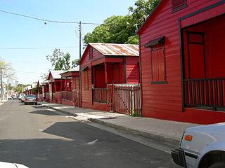 Calle 25 de Enero Historic street in Ponce, Puerto Rico