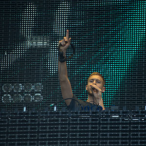Calvin Harris - Harris performing at Rock in Rio in Madrid in July 2012
