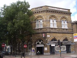 Camden Road - Camden Road railway station at the junction with Royal College Street