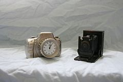 Camera clock and Pencil Sharpener (2800935383).jpg