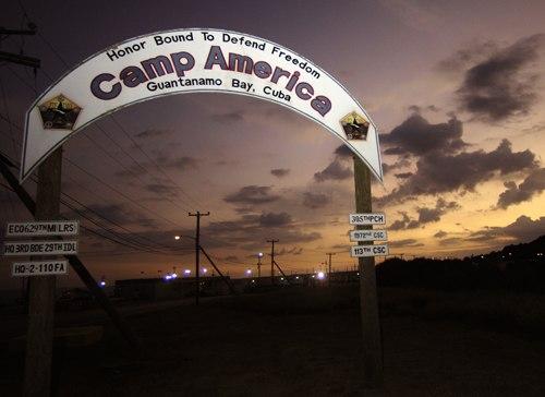 Camp America gate - Guantanamo