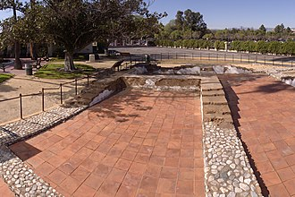 Campo de Cahuenga - The foundation of the original adobe at Campo de Cahuenga.