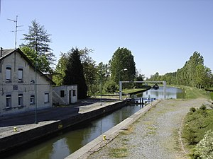 Sambre–Oise Canal - Sambre-Oise Canal; a lock in Ors