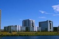 Canon headquarters Ota, Tokyo distant.jpg