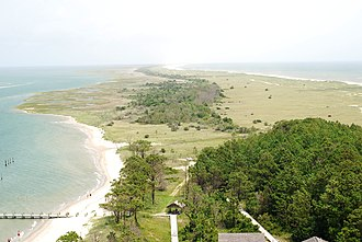 Core Banks, North Carolina - Image: Cape Lookout Lighthouse view 2013 06 2