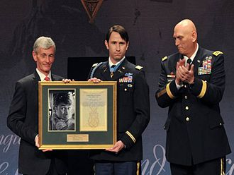 William D. Swenson - On October 16, 2013 Swenson was inducted into the Pentagon's Hall of Heroes. During the ceremony, the Secretary of the Army and the Army Chief of Staff presented Swenson with a framed copy of his Medal of Honor citation.