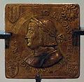 Caradosso (attr.), medaglietta quadrata di gian giacomo trivulzio, 1499, recto.JPG