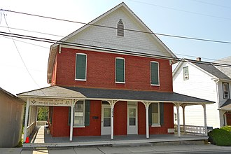 Cardiff, Maryland - The Mason's building in the Whiteford–Cardiff Historic District on Main Street Cardiff, Maryland