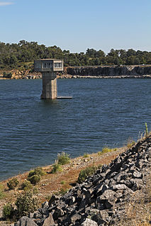 Cardinia Reservoir dam in Greater Melbourne, Victoria
