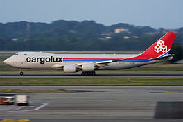 In Boeing 747-8 fan Cargolux (2015)