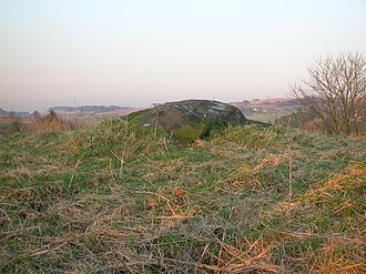 Carlin stone - The Carlin stone from the Commoncraigs Community Woodland, East Ayrshire, Scotland