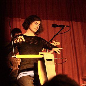 Carolina Eyck - Carolina Eyck playing the theremin