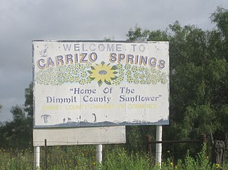 Carrizo Springs, Texas - Image: Carrizo Springs, TX, welcome sign IMG 4216