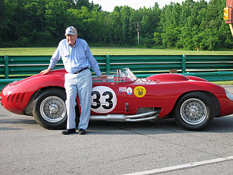 Maserati 450S - Carroll Shelby standing next to a Maserati 450S that he raced in 1957.