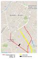 Carte de Bruxelles représentant les Chaussées de Waterloo, d'Ixelles, de Vleurgat et l'Avenue Louise.png