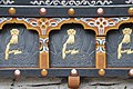 Carvings and relief on the Zhiwaling Hotel, Paro Valley, Bhutan - panoramio.jpg