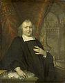 Caspar Fagel (1634-88). Raadpensionaris van Holland sedert 1672, met op de achtergrond de vergaderzaal van de Staten van Holland op het Binnenhof te Den Haag Rijksmuseum SK-A-283.jpeg