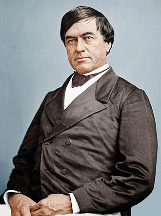 Cassius Marcellus Clay (politician) - Digitally colorized copy of a photograph by Mathew Brady
