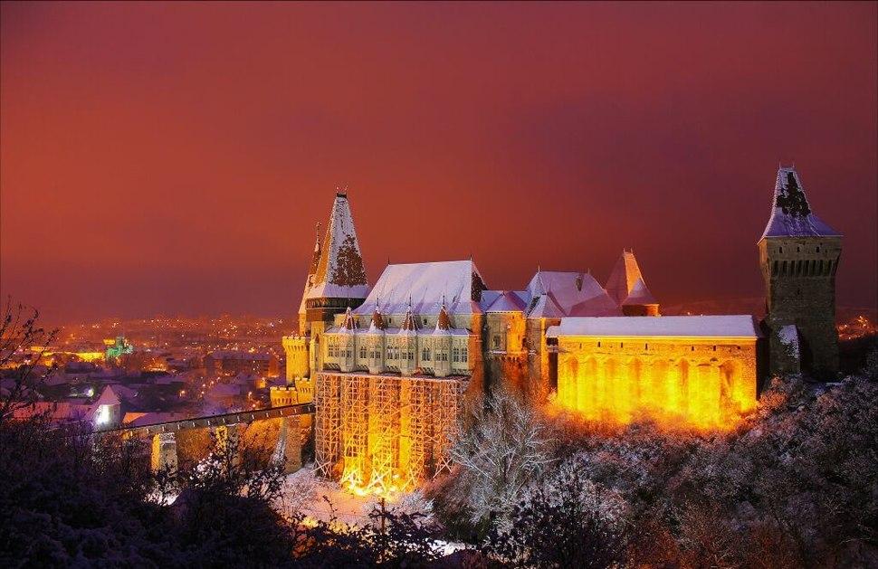 Castelul Corvinilor din Hunedoara in 10 Decembrie 2012. Fotografie realizata de catre Marian Lucian