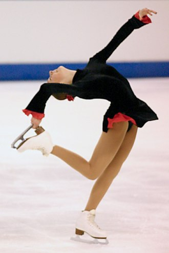 Figure skating spins - Image: Catch foot layback