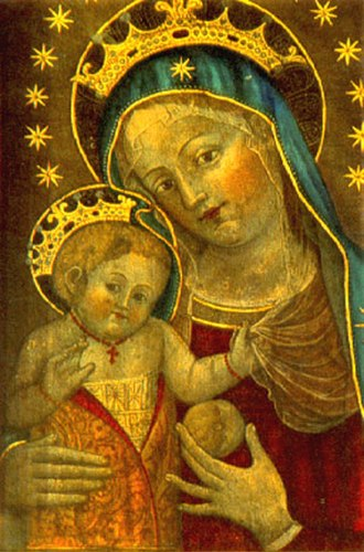 Catherine of Bologna - Madonna and Child, a work attributed to Catherine of Bologna