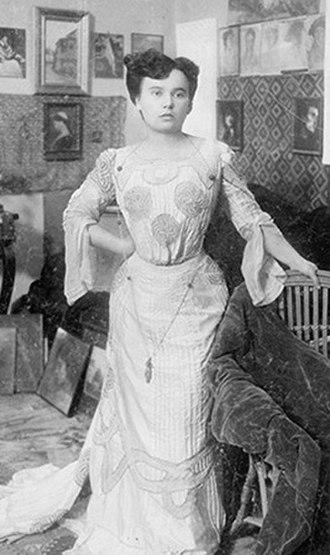 Cecilia Cuțescu-Storck - Cecilia Cuţescu-Storck; photograph by her husband Frederic Storck.