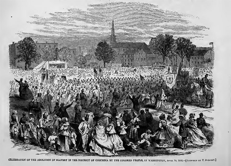 Celebration of the abolition of slavery in the District of Columbia by the colored people in Washington, April 19, 1866