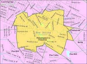 Clementon, New Jersey - Image: Census Bureau map of Clementon, New Jersey