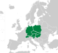 Central Europe map green.png