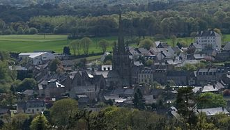 Bourbriac - The town centre of Bourbriac