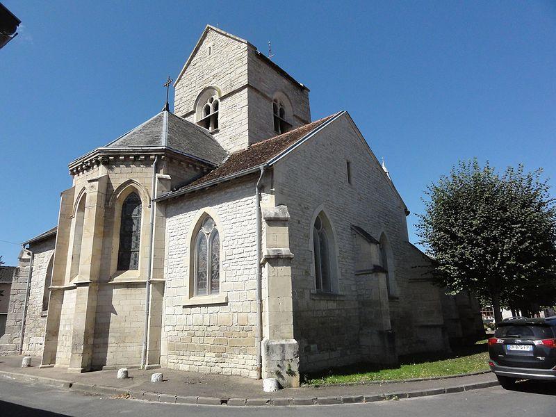 Chamouilley (Haute-Marne) église, nord-est