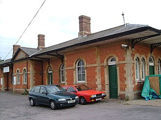 Chard branch line - The Chard Central station building in 2006