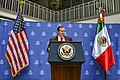 Charge d'Affaires Duncan Welcomes Secretary Pompeo to U.S. Embassy Mexico City (43341604462).jpg