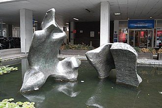 Charing Cross Hospital - Henry Moore sculpture at the main entrance