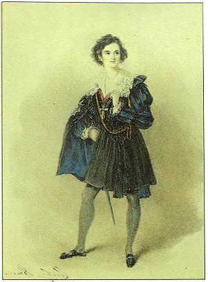 Charles Kean - Charles Kean as Hamlet (1838).