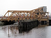 Charles River Bridge from side with train 2013.JPG