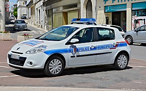Law enforcement in France - Vehicle of the municipal police of Châteauneuf-sur-Charente
