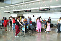 Check-in counter at Mumbai International Airport T1 for domestic flights.jpg