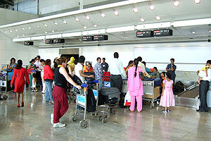 Check-in - Check-in at Mumbai International Airport (domestic terminal)