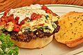 Cheeseburger - ricotta, Parmesan, mozzarella and marinara sauce.jpg