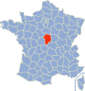 Communes of the Cher department - Image: Cher Position