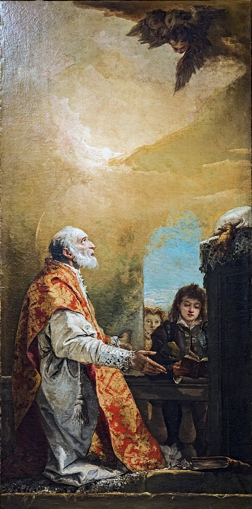 Chiesa di San Polo (Venice) - Oratorio del Crocifisso - St. Philip Neri by Giandomenico Tiepolo