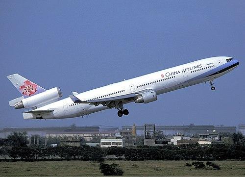 China Airlines MD-11 (N489GX) departing Taiwan Taoyuan International Airport.jpg
