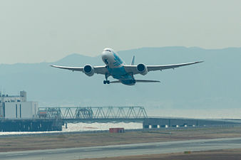 China Southern Airlines ,CZ390 ,Boeing 787-8 ,B-2736 ,Departed to Guangzhou ,Kansai Airport (16214718678).jpg