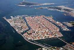 Aerial view of Chioggia