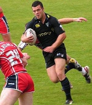 Chris Bridge - Bridge playing for Warrington in 2007