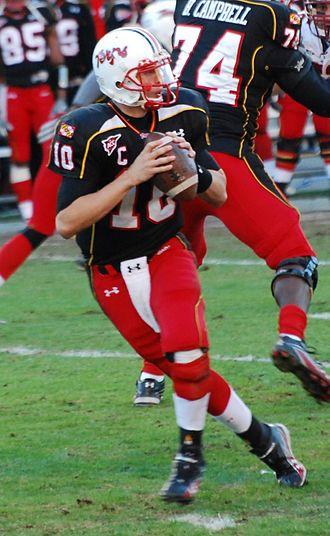 Chris Turner (American football) - Turner in the pocket against Boston College